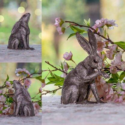 Leonardo reflections collection sitting hare silver ornaments