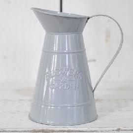 Grey Vintage Flowers & Garden Metal Jug