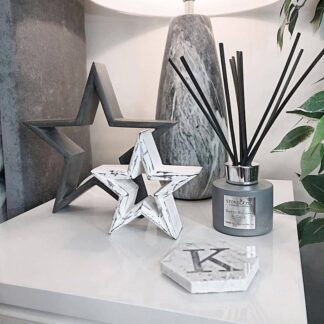 Grey and White Freestanding Wooden Stars