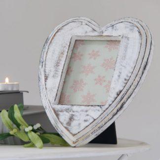 Heart shaped mango wood photo frame