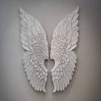 Angel wings wall decor - white