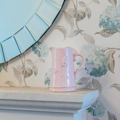 Pink butterfly jug