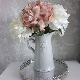 Grey Fleur de Lis Jug