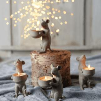 Mouse tea light holders