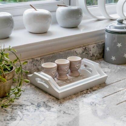 Ceramic Heart Egg Cups