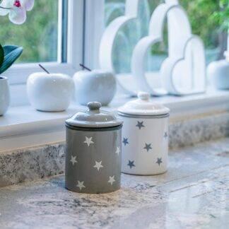 Grey star storage jars