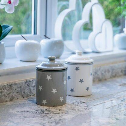 Grey star storage jars