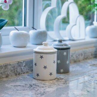 White star storage jar