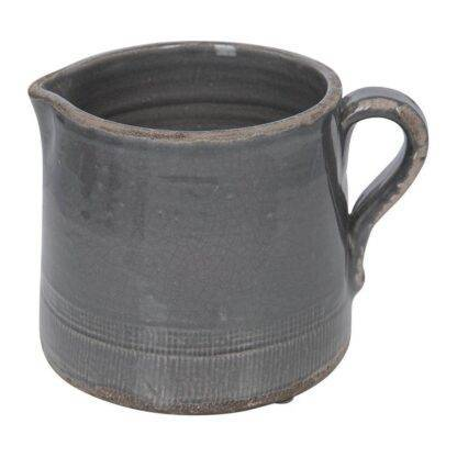Dark Grey Ceramic Pitcher