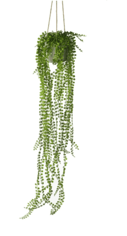 Artificial Hanging Potted Pearl Spray