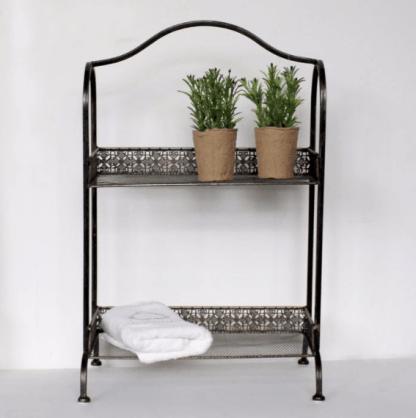 Metal shelving unit / two tier shelf