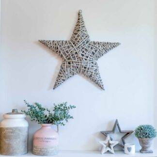 Grey hanging willow star