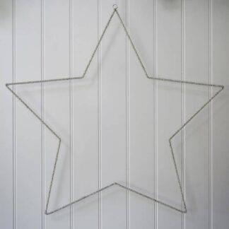 Beaded star wall decoration 75cm