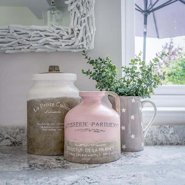 Blush ceramic pitcher patisserie