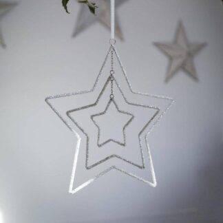 3 Layer Beaded Star Decoration