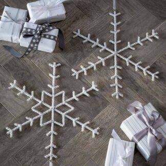 Beaded Hanging Snowflake 30cm