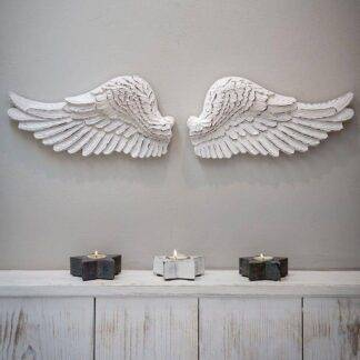 White Angel Wings Wall Decor