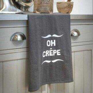 Oh Crepe Grey Kitchen Tea Towel
