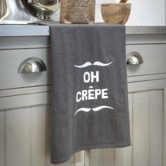 Oh Crepe Grey Kitchen Tea Towel