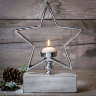 Star Tea Light Holder on Stand