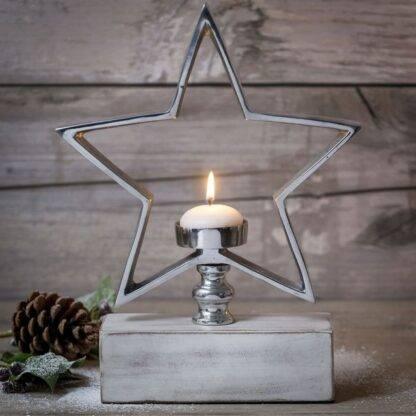 Star Tea Light Holder on Stand