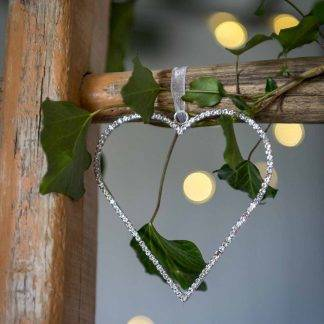 Diamante Hanging Heart