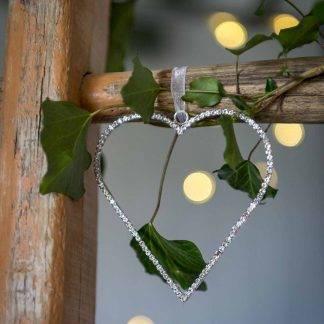 Diamante Hanging Heart