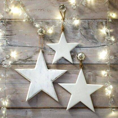 White Wooden Vintage Stars