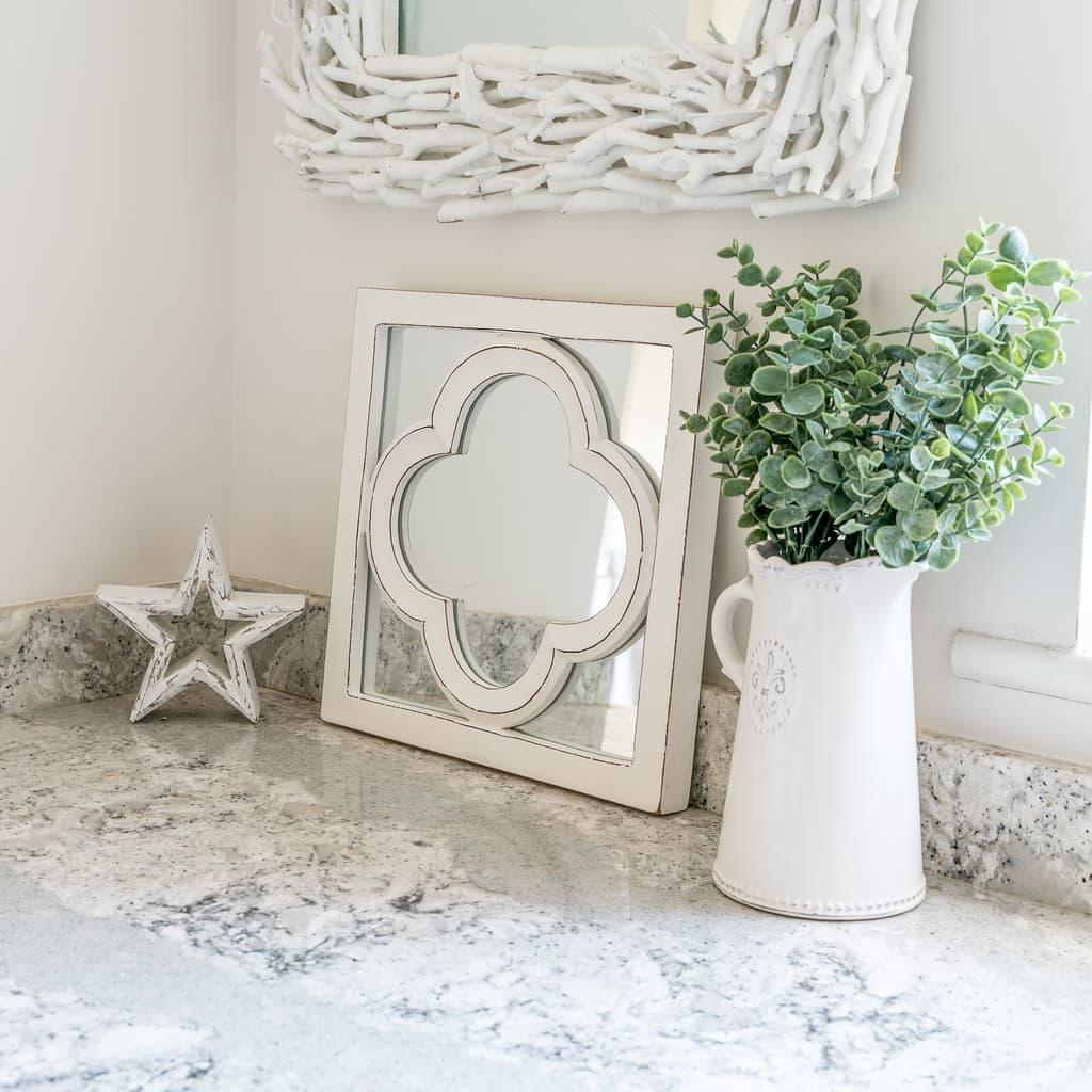 Moroccan White Mirror Panel