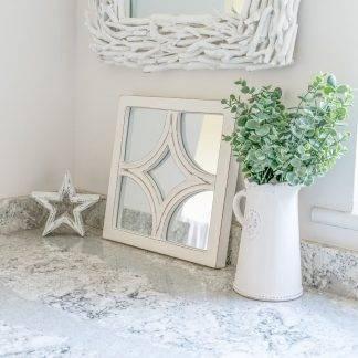 White Diamond Mirror Panel