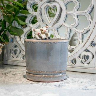 Grey Ceramic Planter Plant Pot