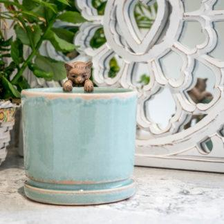 Sage Green Ceramic Planter Plant Pot