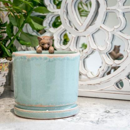 Sage Green Ceramic Planter Plant Pot