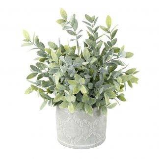 Faux Potted Sage - Artificial Plants