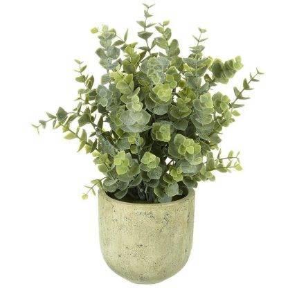 Faux Potted Eucalyptus - Artificial Plant Pots