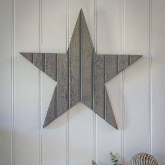 Large Greywashed Wooden Star