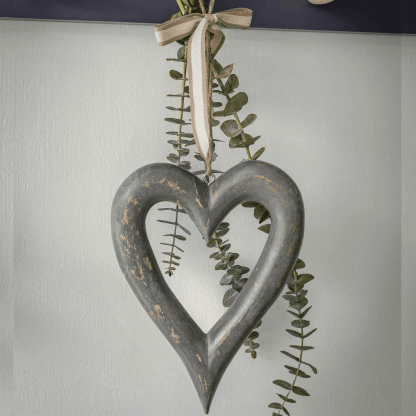 Grey Hanging Heart