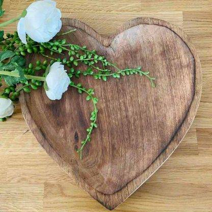 Wooden heart bowl made from Mango Wood