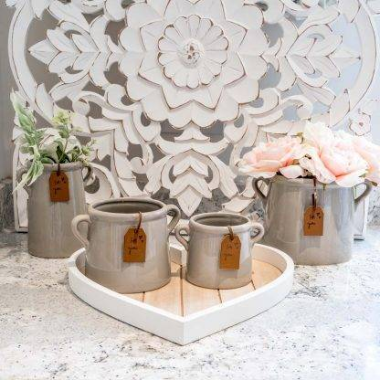 Grey Ceramic Planter Pots