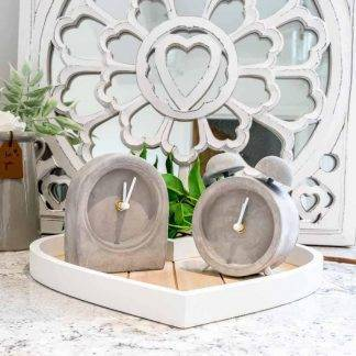 Grey Concrete Clocks