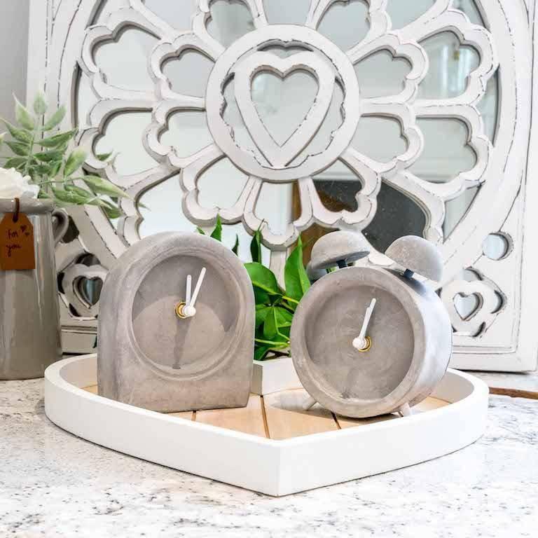 Grey Concrete Clocks