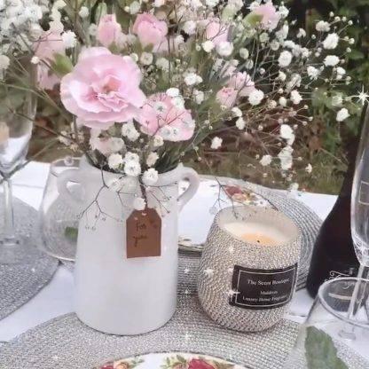 """White Ceramic """"For You"""" Vases"""