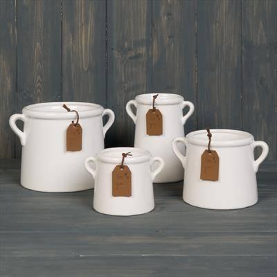 White Ceramic Vase Pots