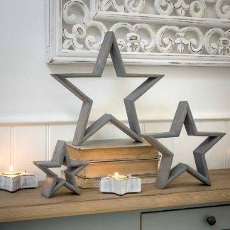 Grey Wooden Stars