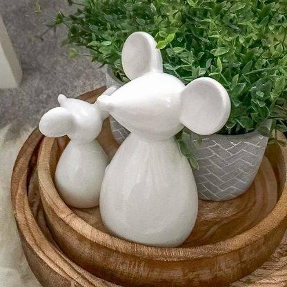 White Ceramic Mouse