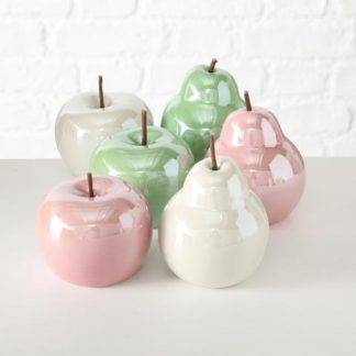 Set of Ceramic Apples and Pears