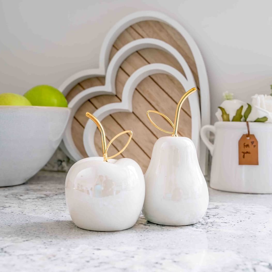 Ceramic Apples and Pears