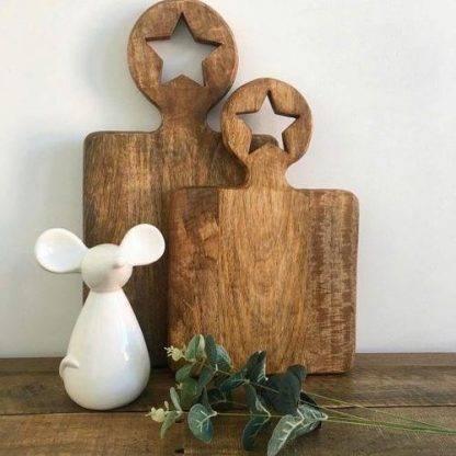 Ceramic White Mouse