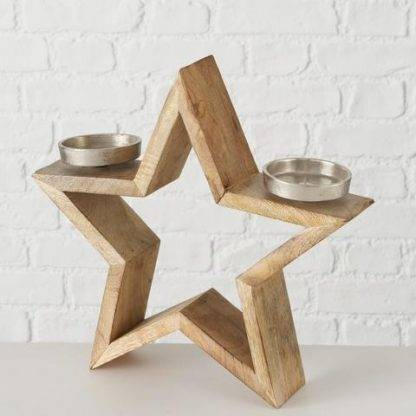 Wooden Star Tea Light Holders
