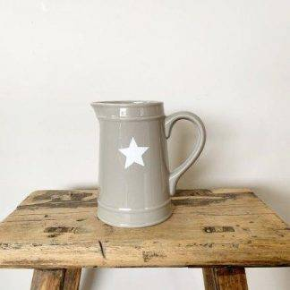 Ceramic Grey Star Jug